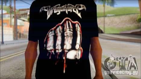 Dragonforce In Your Face Fan T-Shirt для GTA San Andreas третий скриншот