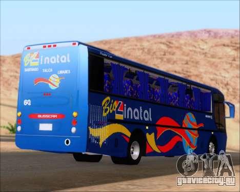 Busscar El Buss 340 Bio Linatal для GTA San Andreas вид сзади слева