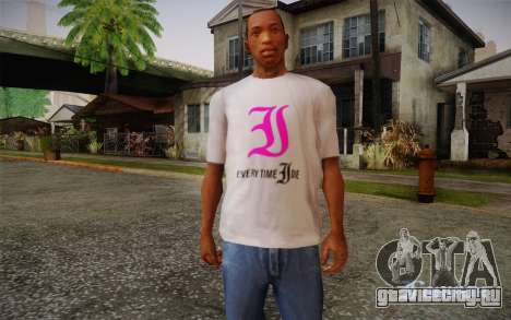 Everytime I Die T-Shirt для GTA San Andreas