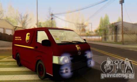 Toyota Hiace UPS Cargo Van 2006 для GTA San Andreas