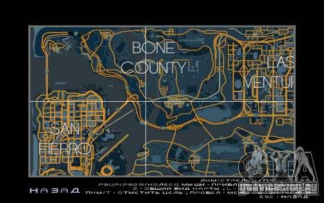 Карта в гоночном стиле Trace Map для GTA San Andreas третий скриншот