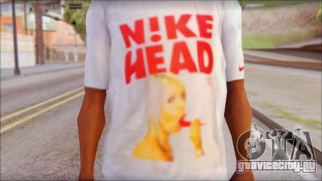 N1KE Head T-Shirt для GTA San Andreas третий скриншот