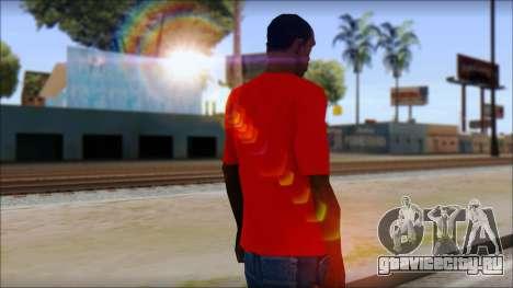 Vidick from Infected Rain Red T-Shirt для GTA San Andreas второй скриншот