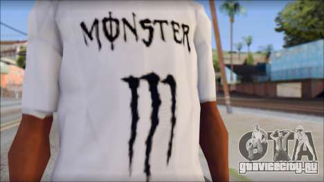 Monster Black And White T-Shirt для GTA San Andreas третий скриншот