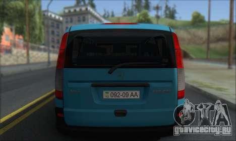 Mercedes-Benz 115 CDI Vito 2007 Stance для GTA San Andreas вид справа