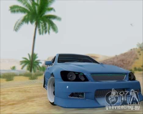 Toyota Allteza C-West для GTA San Andreas вид сзади слева
