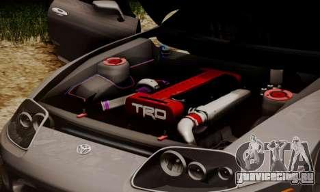 Toyota Supra Stock для GTA San Andreas вид сбоку