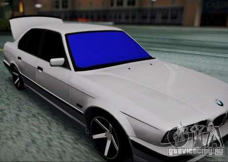 BMW 520i E34 для GTA San Andreas вид сзади слева