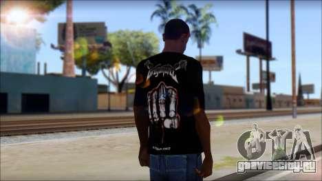 Dragonforce In Your Face Fan T-Shirt для GTA San Andreas второй скриншот