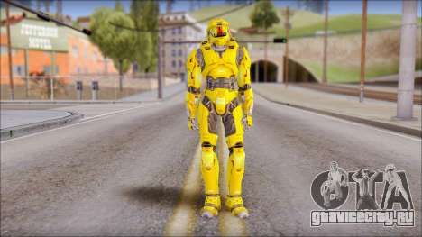 Masterchief Yellow from Halo для GTA San Andreas
