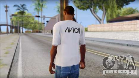 Avicii Fan T-Shirt для GTA San Andreas