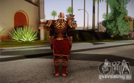 Kratos God Armor для GTA San Andreas второй скриншот