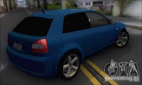 Audi A3 1999 для GTA San Andreas вид справа