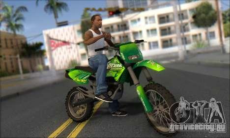 Sanchez From GTA V для GTA San Andreas вид сзади
