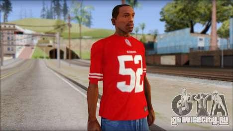 San Francisco 69ers 52 Willis Red T-Shirt для GTA San Andreas