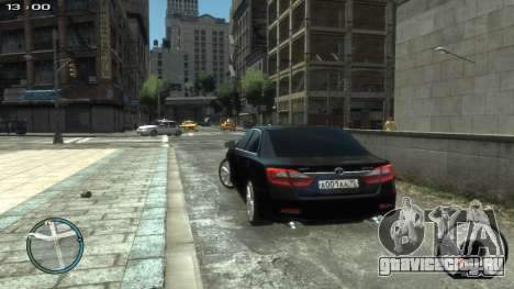 Toyota Camry 2013 для GTA 4 вид слева