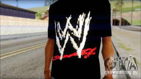 WWE Logo T-Shirt mod v2 для GTA San Andreas третий скриншот