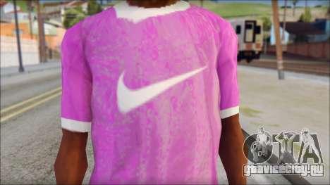 NIKE Pink T-Shirt для GTA San Andreas третий скриншот