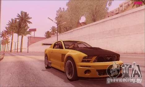 Ford Mustang GTR для GTA San Andreas вид сзади слева