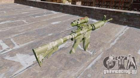 Автоматический карабин М4А1 Guard Camo для GTA 4 второй скриншот