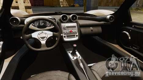 Pagani Zonda C12S Roadster 2001 v1.1 PJ2 для GTA 4 вид изнутри