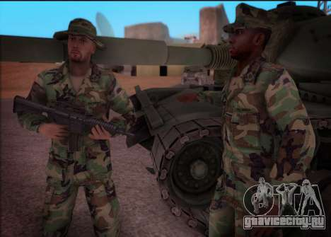90s California National Guard для GTA San Andreas третий скриншот