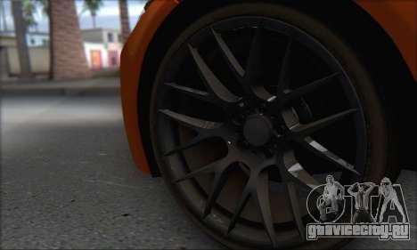 BMW M3 E92 Soft Tuning для GTA San Andreas вид сзади