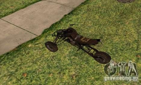 Trike from Ravaged для GTA San Andreas вид сзади слева