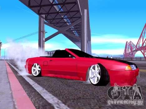 Elegy Cabrio HD для GTA San Andreas вид сзади слева