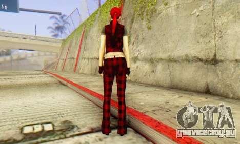 Red Girl Skin для GTA San Andreas третий скриншот