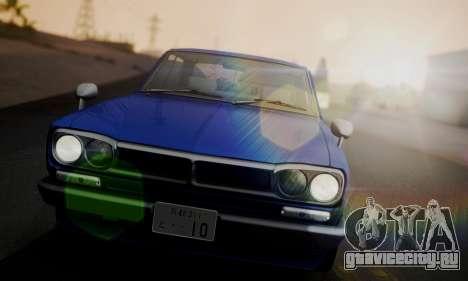 Nissan Skyline GC10 2000GT для GTA San Andreas вид сбоку