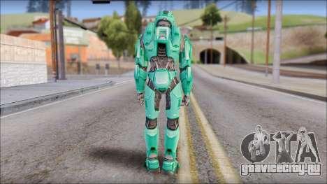 Masterchief Blue-Green from Halo для GTA San Andreas третий скриншот