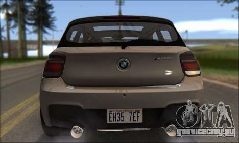 BMW M135i для GTA San Andreas вид сверху