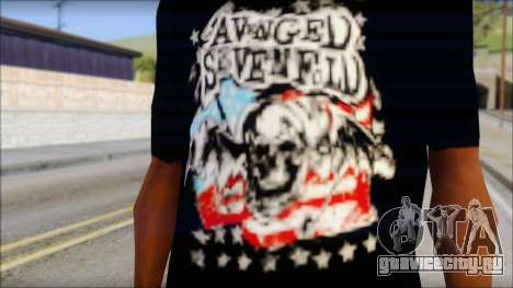 A7X Stars And Stripes T-Shirt для GTA San Andreas третий скриншот