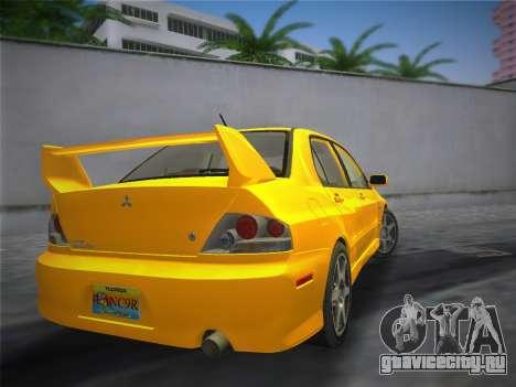 Mitsubishi Lancer Evolution 8 2004 для GTA Vice City вид слева