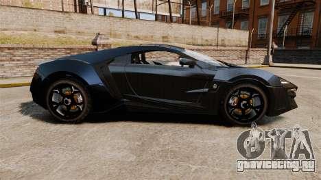 Lykan HyperSport Black для GTA 4 вид слева