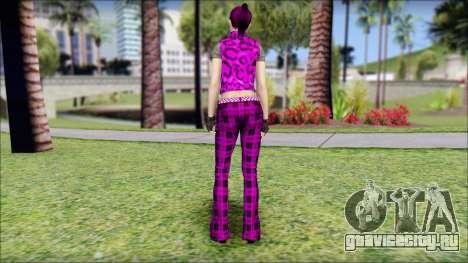 Rock Chicks Purple Ped для GTA San Andreas второй скриншот