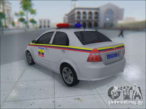 Chevrolet Aveo Милиция OНР для GTA San Andreas вид изнутри