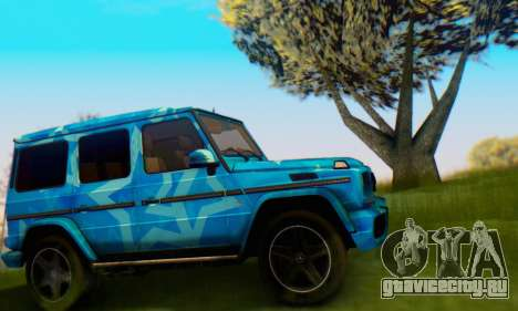 Mercedes-Benz G65 Blue Star для GTA San Andreas вид сзади слева