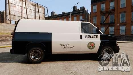 Vapid Speedo Los Santos Police [ELS] для GTA 4 вид слева