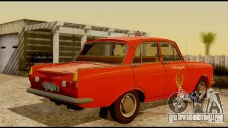 Москвич 412У для GTA San Andreas вид сзади
