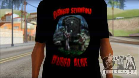 A7X Buried Alive Fan T-Shirt v1 для GTA San Andreas третий скриншот