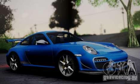 Porsche 911 GT3 RS4.0 2011 для GTA San Andreas вид сзади слева