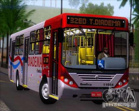 Comil Svelto 2008 Volksbus 17-2 Benfica Diadema для GTA San Andreas вид слева