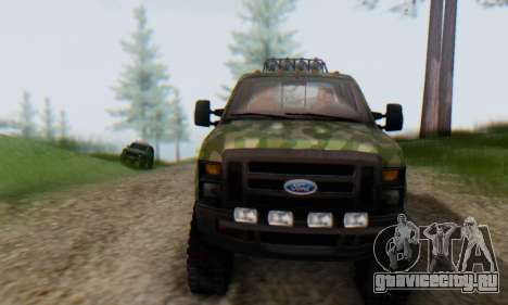 Ford F-250 Camo Lifted 2010 для GTA San Andreas вид сверху