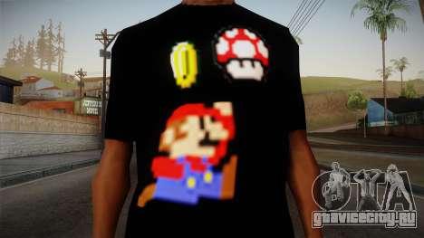 Mario Bros T-Shirt для GTA San Andreas третий скриншот