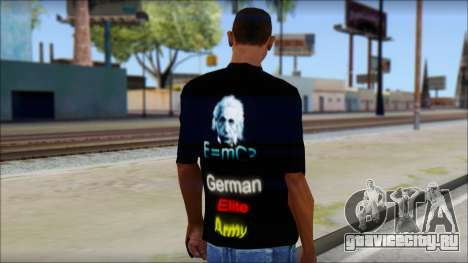 German Elite Army Emcore Fan T-Shirt для GTA San Andreas второй скриншот