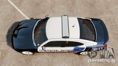 Dodge Charger SRT8 2010 [ELS] для GTA 4 вид справа