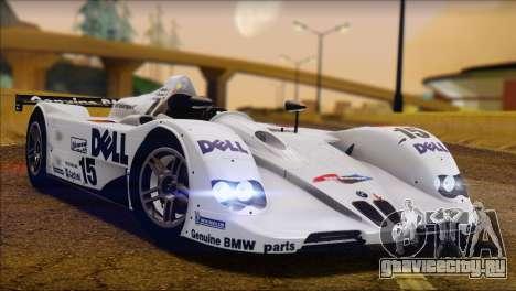 BMW 14 LMR 1999 для GTA San Andreas вид сзади слева