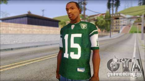 New York Jets 15 Tebow Green T-Shirt для GTA San Andreas